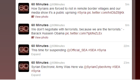 cached tweets CBS 60 minutes
