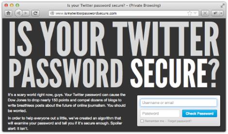 fake twitter password checker