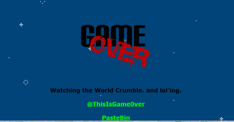 gameover banner