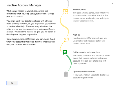 google launch inactive account manager to manage data past digital life