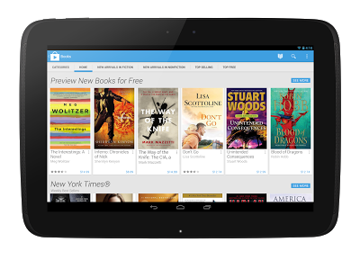 google play on tablet