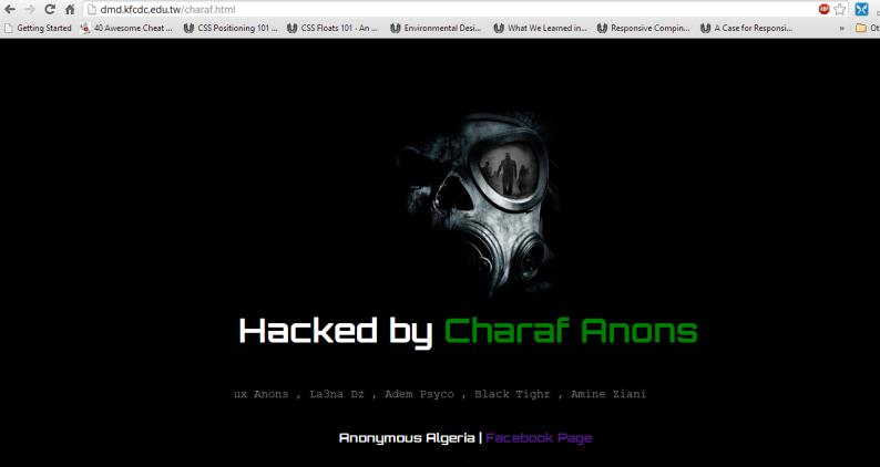 website defaced