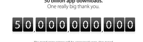 apple 50 billion downloads
